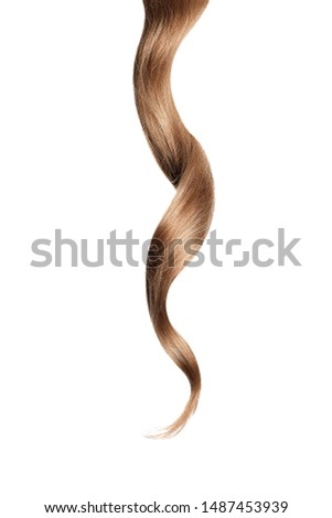 Brown hair, isolated on white background