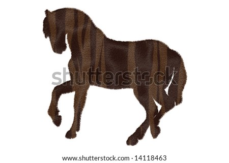 Tiger Striped Horse Brown Horse With Tiger Stripe