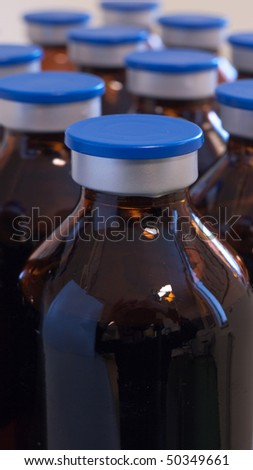 Brown injection bottles