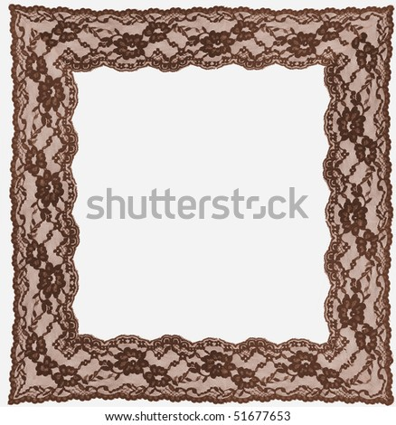 brown lace frame