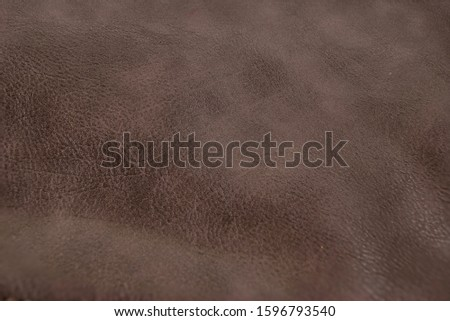 Brown leather background. Brown furniture details.