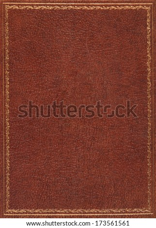 Brown leather book cover #173561561