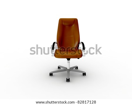 brown leather office easy chair