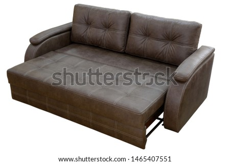 brown leather sofa isolated on white background #1465407551