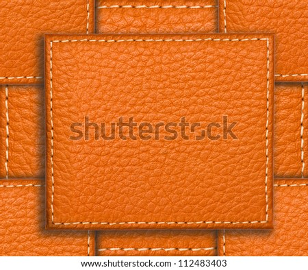 Brown leather texture close up with space for your text. Useful as background or texture for design