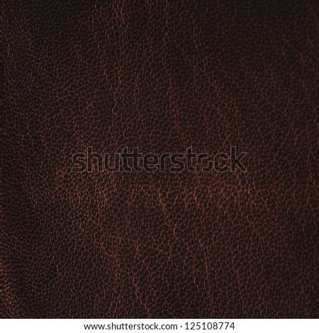 Brown leather texture closeup. - stock photo