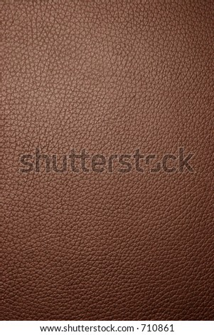 Brown leather texture - Macro - stock photo