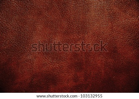 Brown leather texture. Useful as background for any design work.