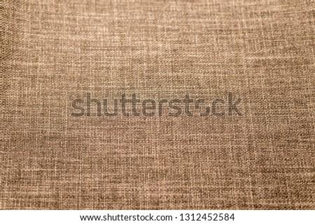 Brown Nature sackcloth or burlap texture background - image. Horizontal frame #1312452584