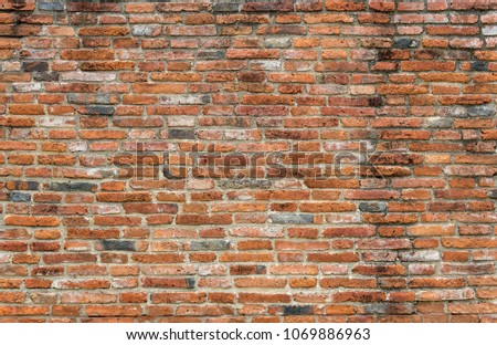 Brown old bricks wall Background texture. for add text message or backdrop for graphic design