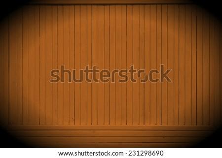 Brown Orange Black Colored Wood Backboard Billboard Background Texture. Instagram style