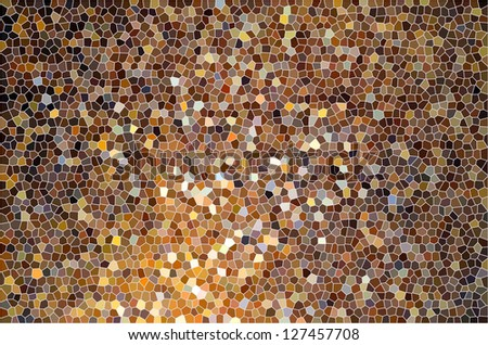 Brown orange yellow color gradient stained glass or tile surface pattern