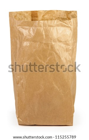 brown paper back isolated