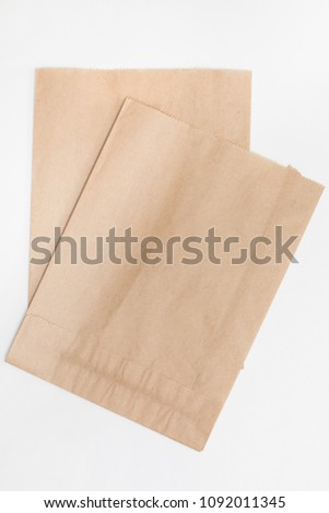 brown paper bag for bread on...
