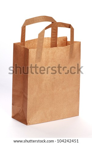Brown Paper Bag. isolated on white