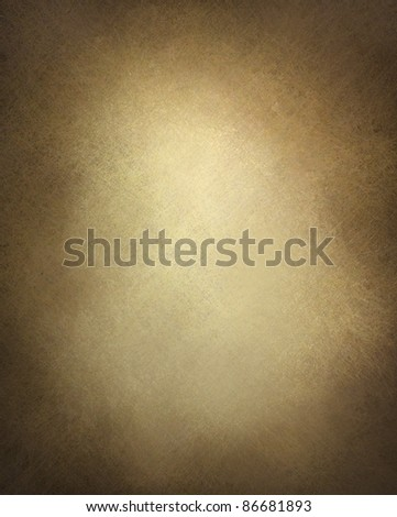 brown paper or brown background illustration with old vintage texture and darker black grunge border with faded white center, brown parchment paper