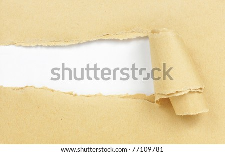 brown paper with copy space for text