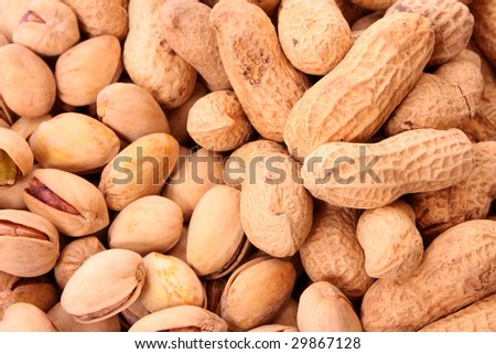 brown peanuts texture background - stock photo
