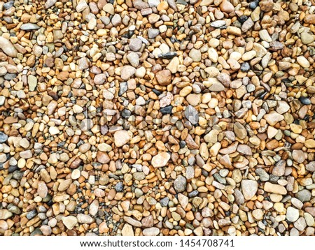 Brown pebbles background Brown pebbles,Gravel background