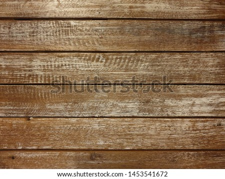 Brown plank wood texture background.Close up of wall made of wooden planks.