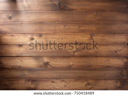 Photo of  brown plank wooden background texture