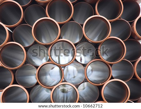 Brown PVC pipes