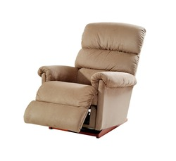 Brown reclining chair isolated on white background with clipping path.
