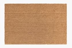 Brown rectangle door mat in minimal style