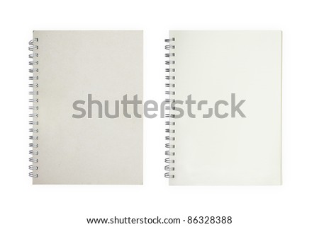 brown recycle paper . isolated over white background - stock photo