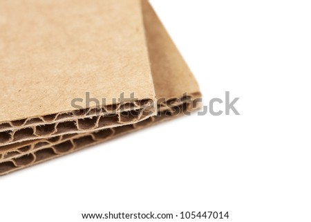 Brown recycled carton
