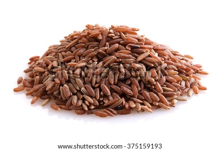 Brown rice isolated