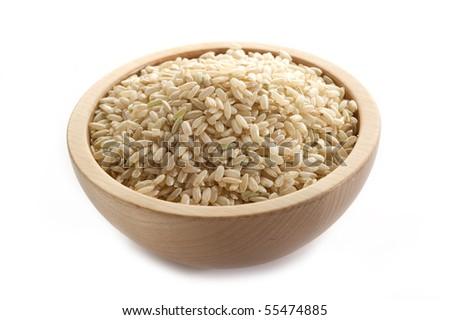 brown rice on bowl