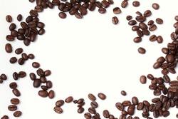 Brown roasted Arabica coffee beans