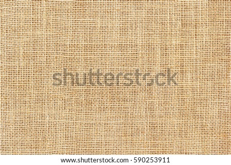 Brown sackcloth texture or background and empty space.