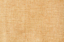 Brown sackcloth texture or background and empty space. macro photo
