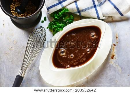 Brown sauce Сток-фото ©