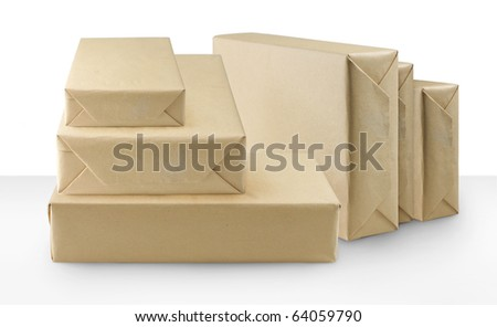 brown shipping box packages
