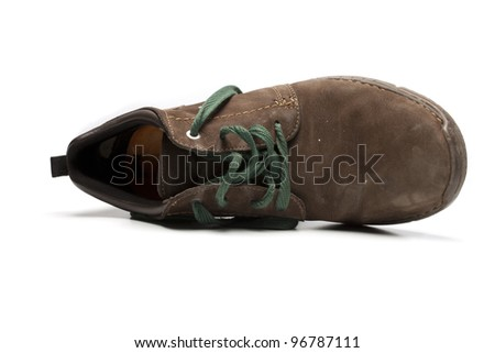 brown shoe on white background