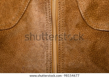 Brown suede texture and zipper background
