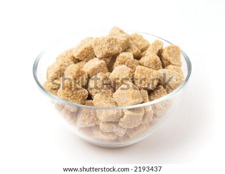 Brown sugar in a glass pot