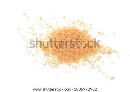 brown sugar isolated on white background. Top view. Flat lay #1005972982
