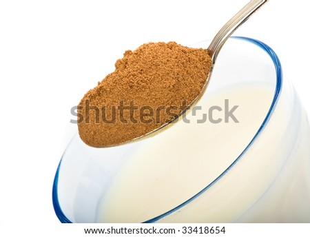 brown sugar on spoon and glass