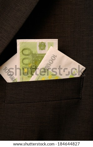 Brown suit with Euro pocket square