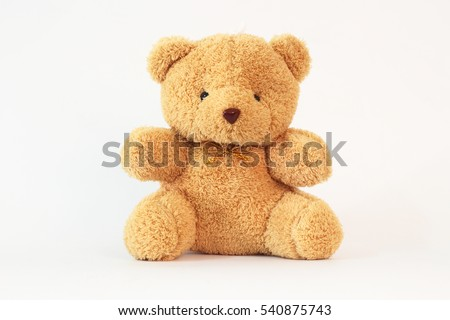 Brown teddy bear on a white background. #540875743
