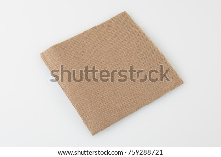 brown tissue paper on white background #759288721