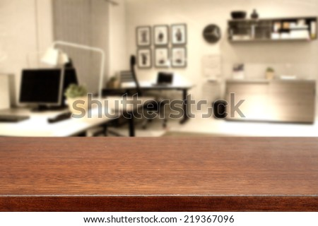brown top and office