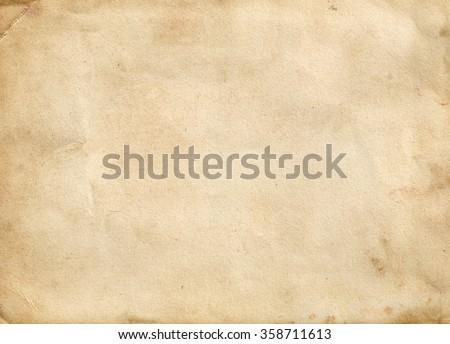 Brown vintage paper. Old paper background