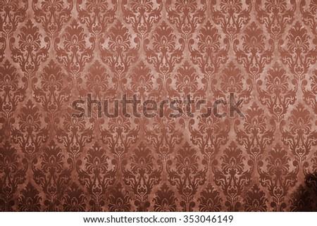 Brown vintage pattern on old wall Imagine de stoc ©