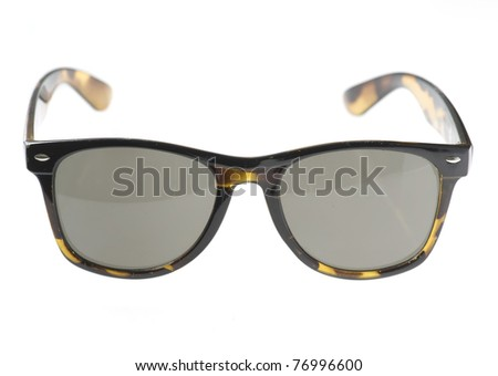 brown vintage sunglasses isolated on a white background