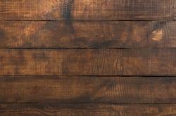 Brown vintage wooden background. Wooden texture